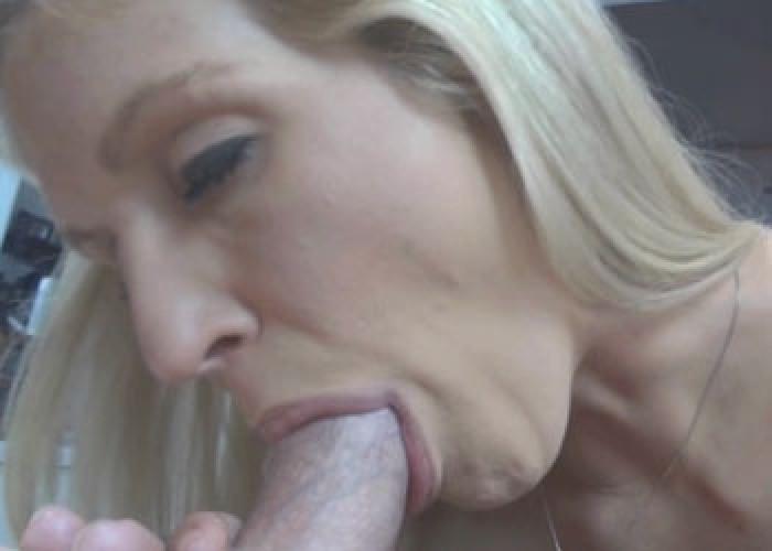 Big facial blond milf