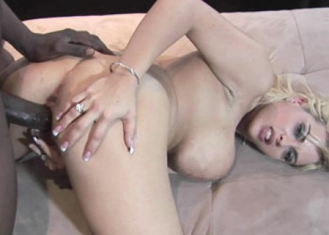 Busty Starla pounds some black dick
